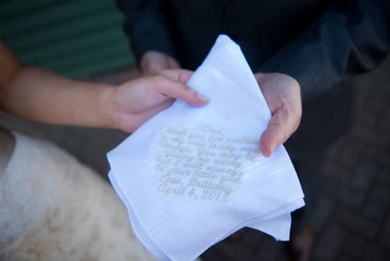 Personalized Handkerchief for the bride