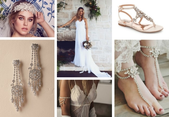 Guide To Boho Bridal Accessories Romantic Beach Garden
