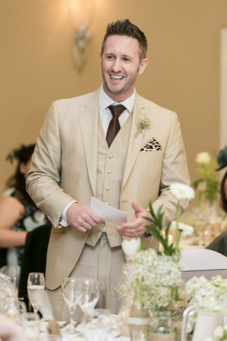 best man in tan suit