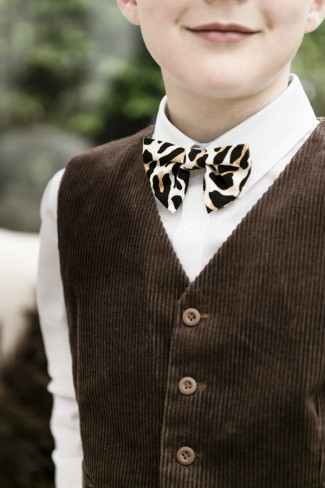 boy with leopard bowtie