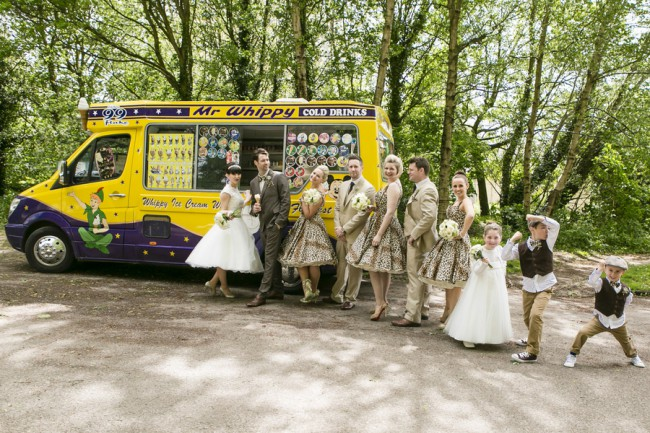 bridal party at Mr Whippy truck