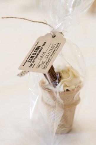 flake cone wedding favor