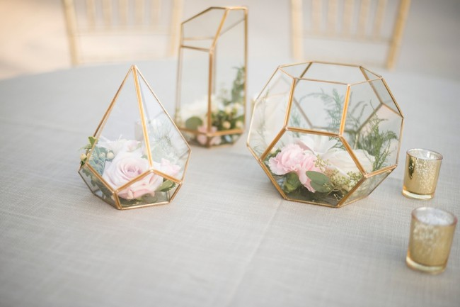 geometric plant holder decor