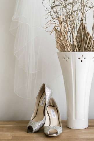 jimmy choo shoes and vase