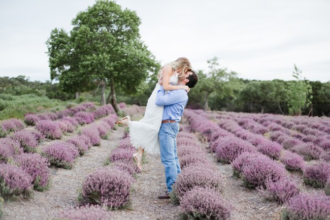 lifting her up at lavender field