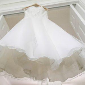 looking up at hanging dress