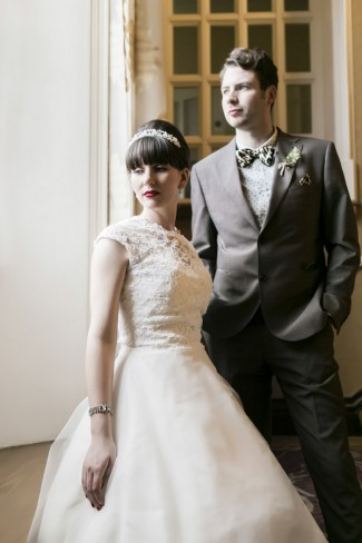 newlywed portrait
