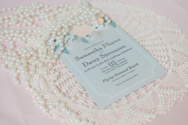 stationery with pearls on top