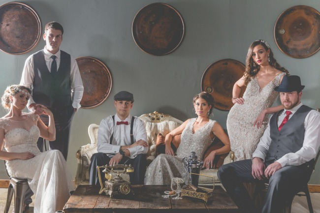 1920s styled shoot group