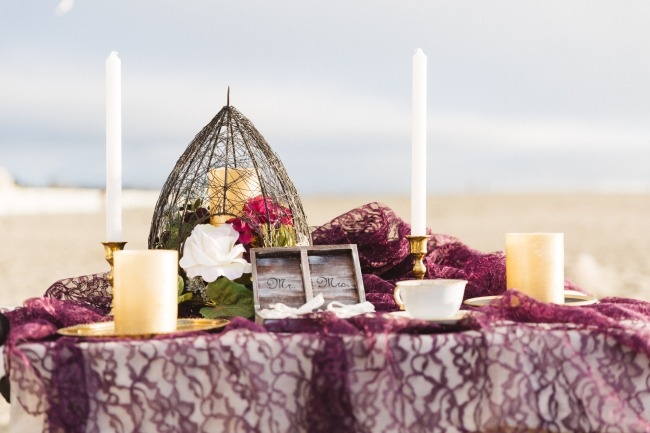 California boho styled shoot on beach