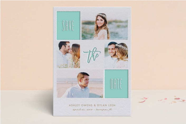 Framed Up Letterpress Save the Date Cards by Minted stationery