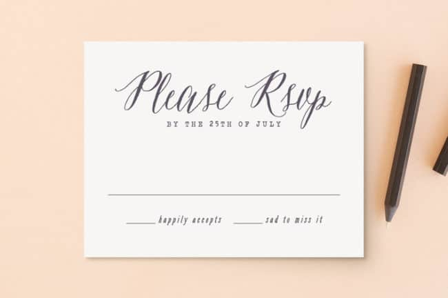 Garden Lights rsvp cards from Minted
