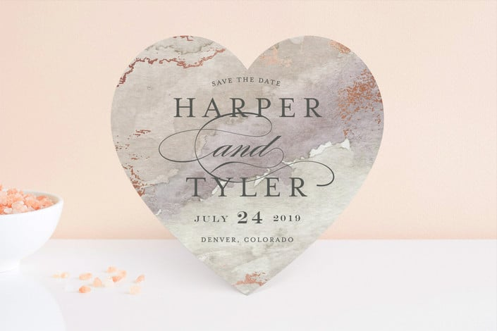 Gilded Shore save the dates from Minted