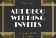 Gold Art Deco Invitation