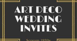 Gold Art Deco Invitation