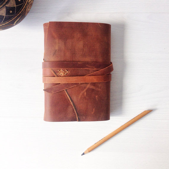 leather bound journal gift