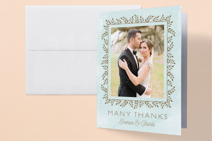 Minted S Elegant Lines Wedding Thank You Cards