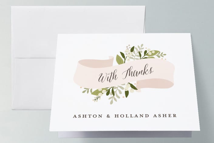 MInted's Ribbonly wedding thank you cards
