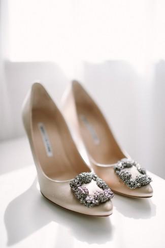 Manolo Blahnik bridal heels