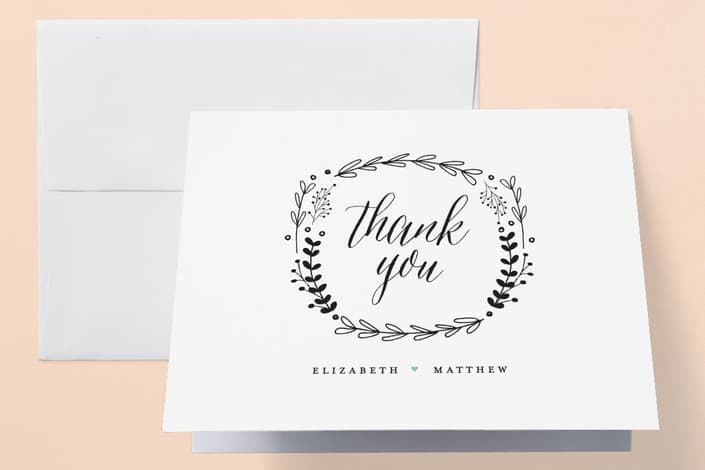 Minted's Always wedding thank you cards