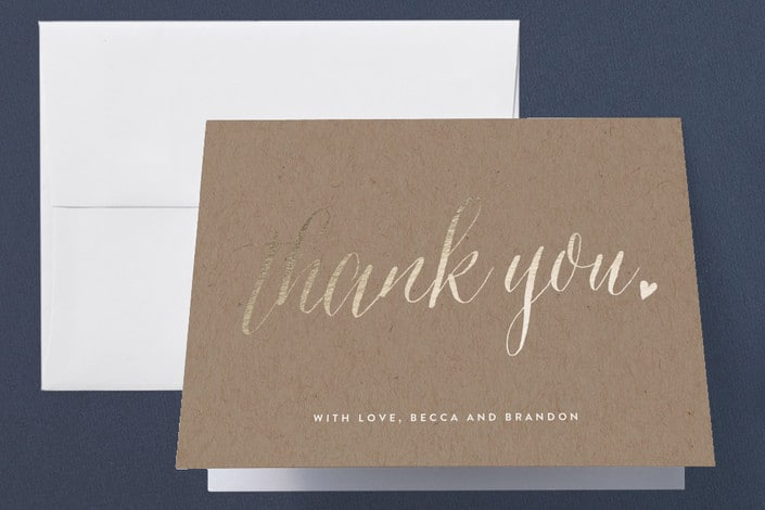 Minted's Charming Love wedding thank you cards
