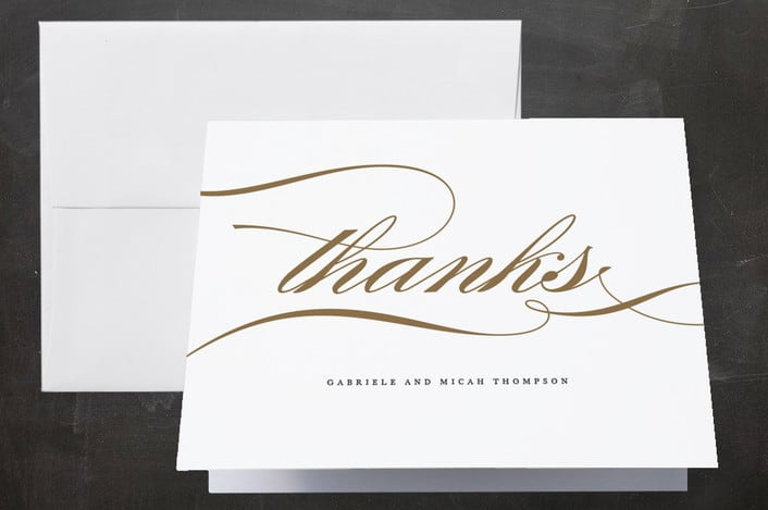 Minted's Flourish wedding thank you cards