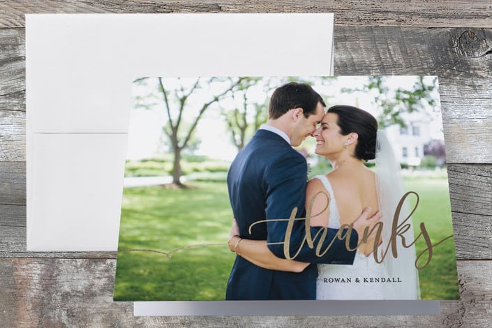 Minted's Forever Love wedding thank you cards