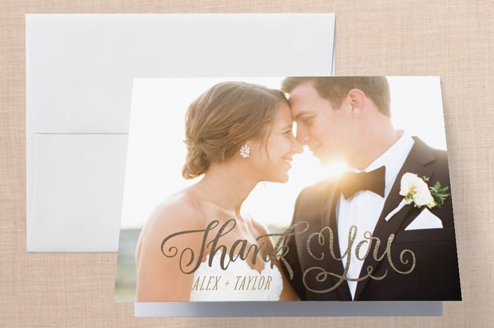 Minted's Happily Ever After Begins wedding thank you cards