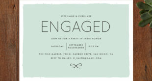 Minted's Knotted engagement party invitations