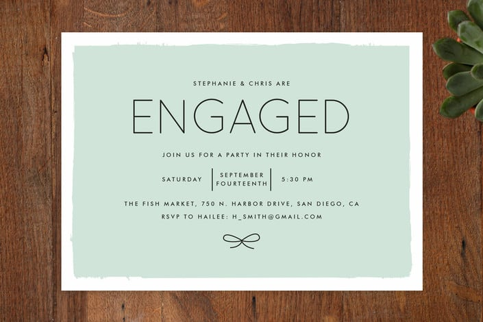 Minted S Knotted Engagement Party Invitations