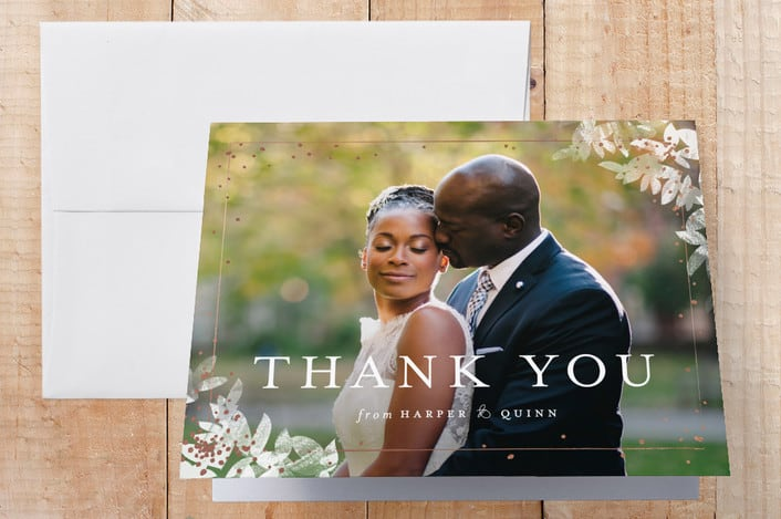 Minted's Midsummer Romance wedding thank you cards