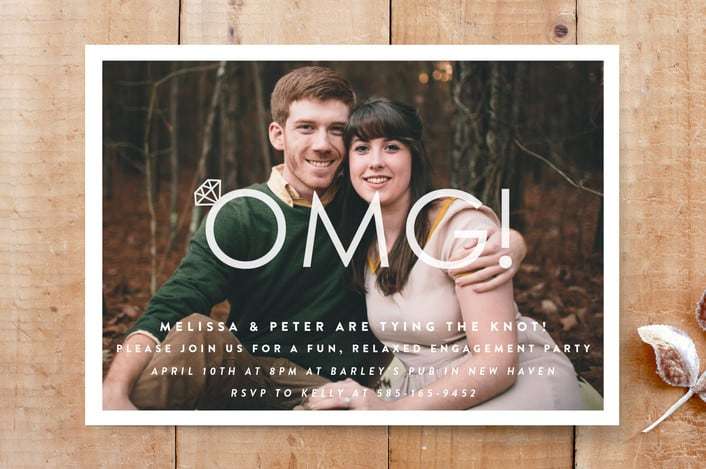 Minted's Omg! Engagement Party engagement party invitations