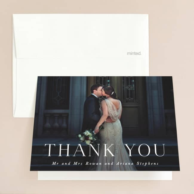 Namely wedding thank you cards by Minted