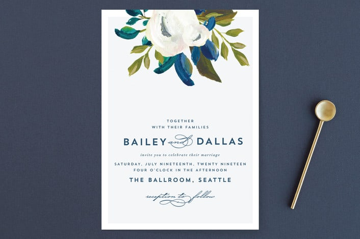 Our Something Blue wedding invitations from minted