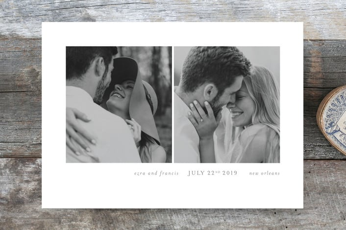 Simply bliss save the dates from Minted stationery