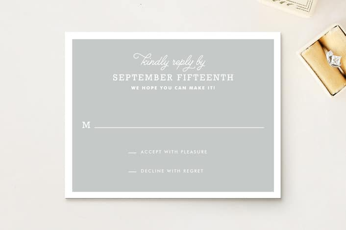 Timeless rsvp cards from MInted