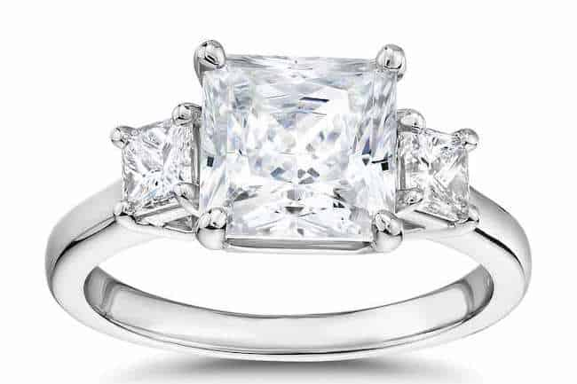 blue nile princess cut diamond engagement ring