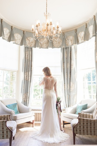bride in room at Rufflets Hotel Scotland