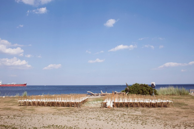 outdoor seaside ceremony in NH