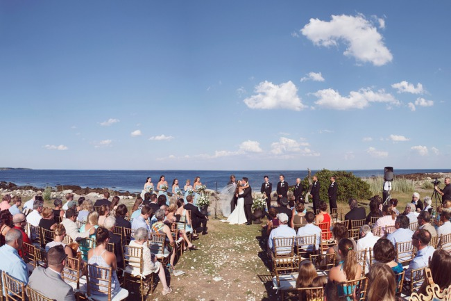 outdoor seaside ceremony