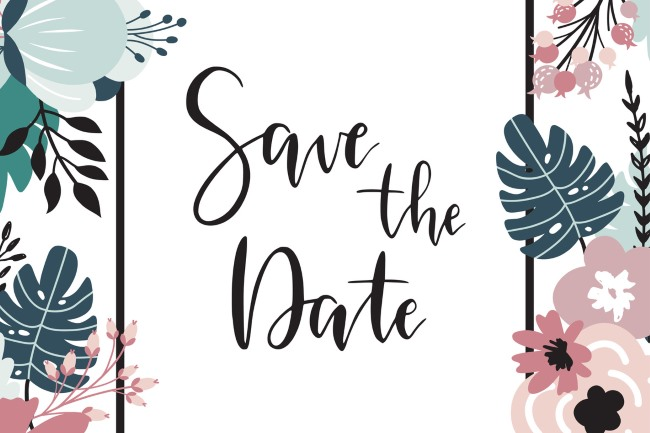 save the date example card