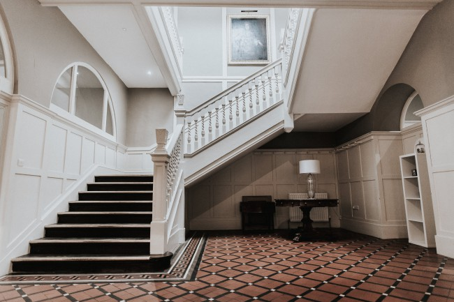 staircase at Belle Isle Castle