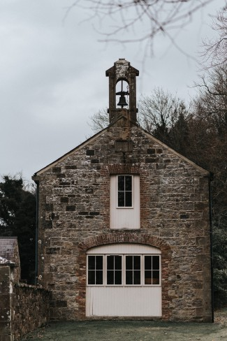 stone church with bell
