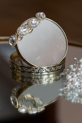 vintage bracelets on mirror