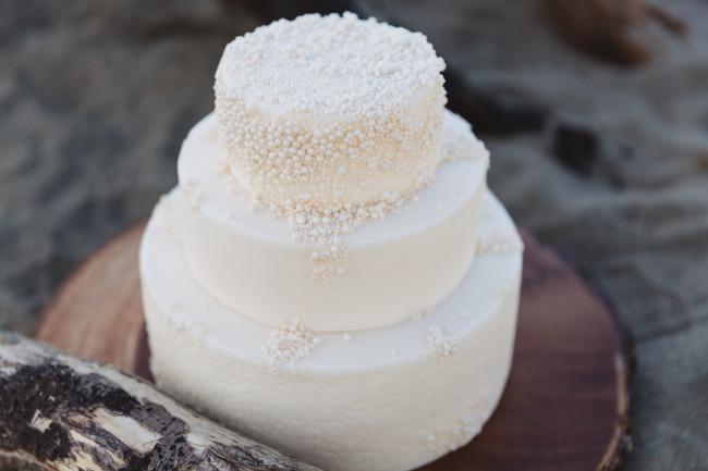 white dot cake desing