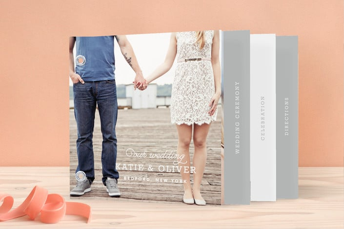 Minted timeless wedding invitation minibook