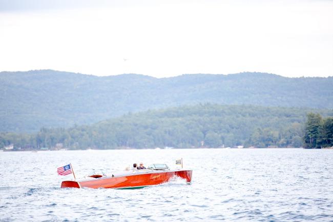 cigar boat on Lake George