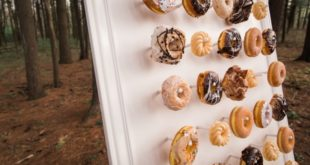 donut wall with forty donuts