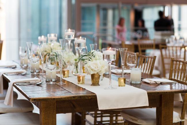 elegant tablescape at Kimmel Center