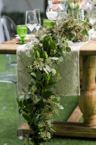 greenery down table runner